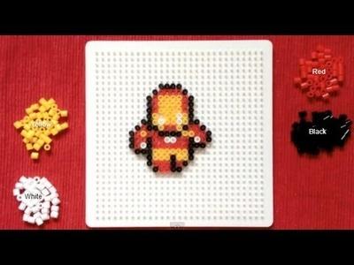 Perler Bead Tutorial: Mini Avengers (Iron Man)