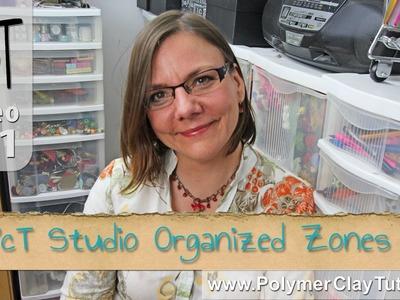 Polymer Clay Tutor Studio Tour - Organized Zones
