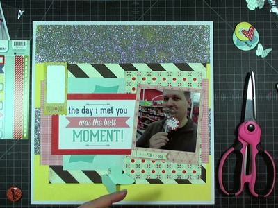 """Scrapbook Layout: The Day I Met You, 12""""x12"""""""