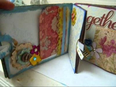Scrapbooking-Eclectic and Colorful Paper Bag Mini Album (Day 2)