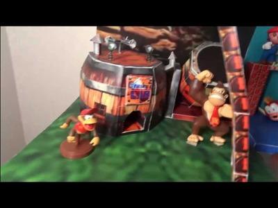 Super Mario and Donkey Kong Papercraft worlds