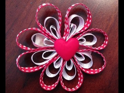 Valentine's Day Hair Bow Tutorial - DIY Flower Bow Instructions