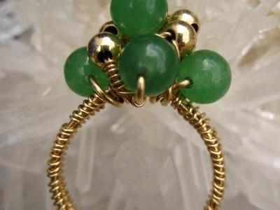 Wire Wrap Jade Ring - Tutorial - Liz Kreate