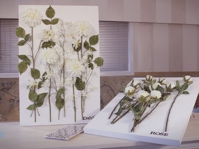 Arts & Crafts Tutorial: Mounting Flowers on a Canvas