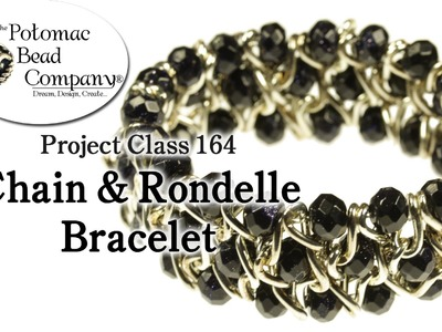 Chain & Rondelle Stretch Bracelet