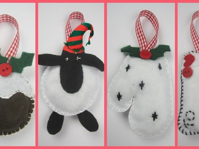 {Christmas} ❄ DIY Felt Christmas Decorations