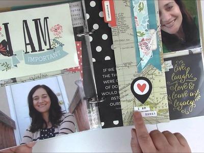 Create Today: I Am Simple Stories Scrapbooking Mini Album