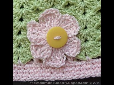 CROCHET ALONG - How To Crochet Simple Flower From A Cotton Yarn - Video Tutorial