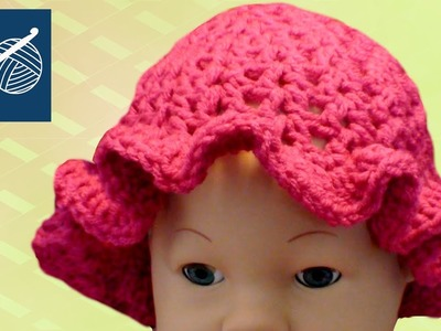 CROCHET BABY CAP CIPRESO WITH RUFFLE - Left Hand Crochet Geek