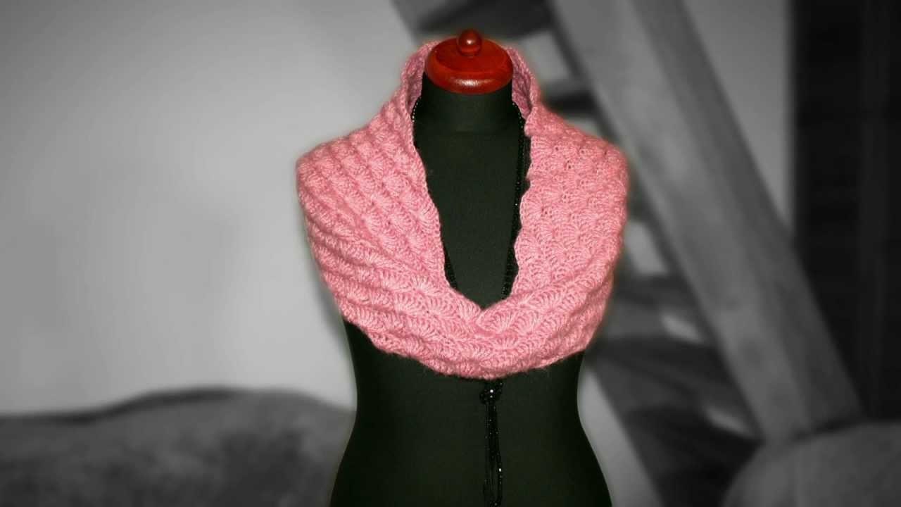 Crochet neck warmer, crochet circle scarf