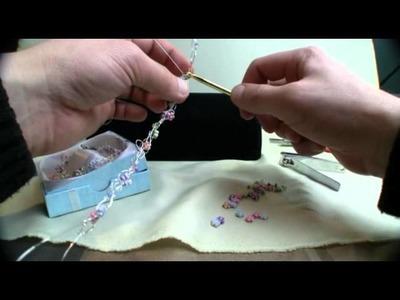 Crochet Wire Flower Bracelet Bling