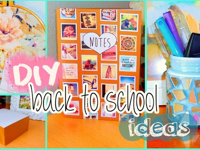 DIY back to school ideas! DIY organization, Tumblr inspired supplies & more!