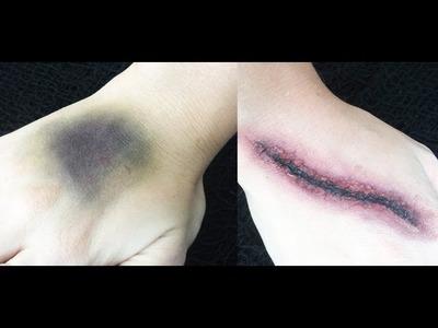 DIY Bruises & Cuts Halloween Tutorial