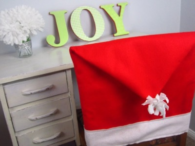 {DIY Christmas}❄DIY Santa Hat Chair Covers