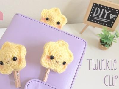 DIY Crochet Star Clip - Kawaii Version