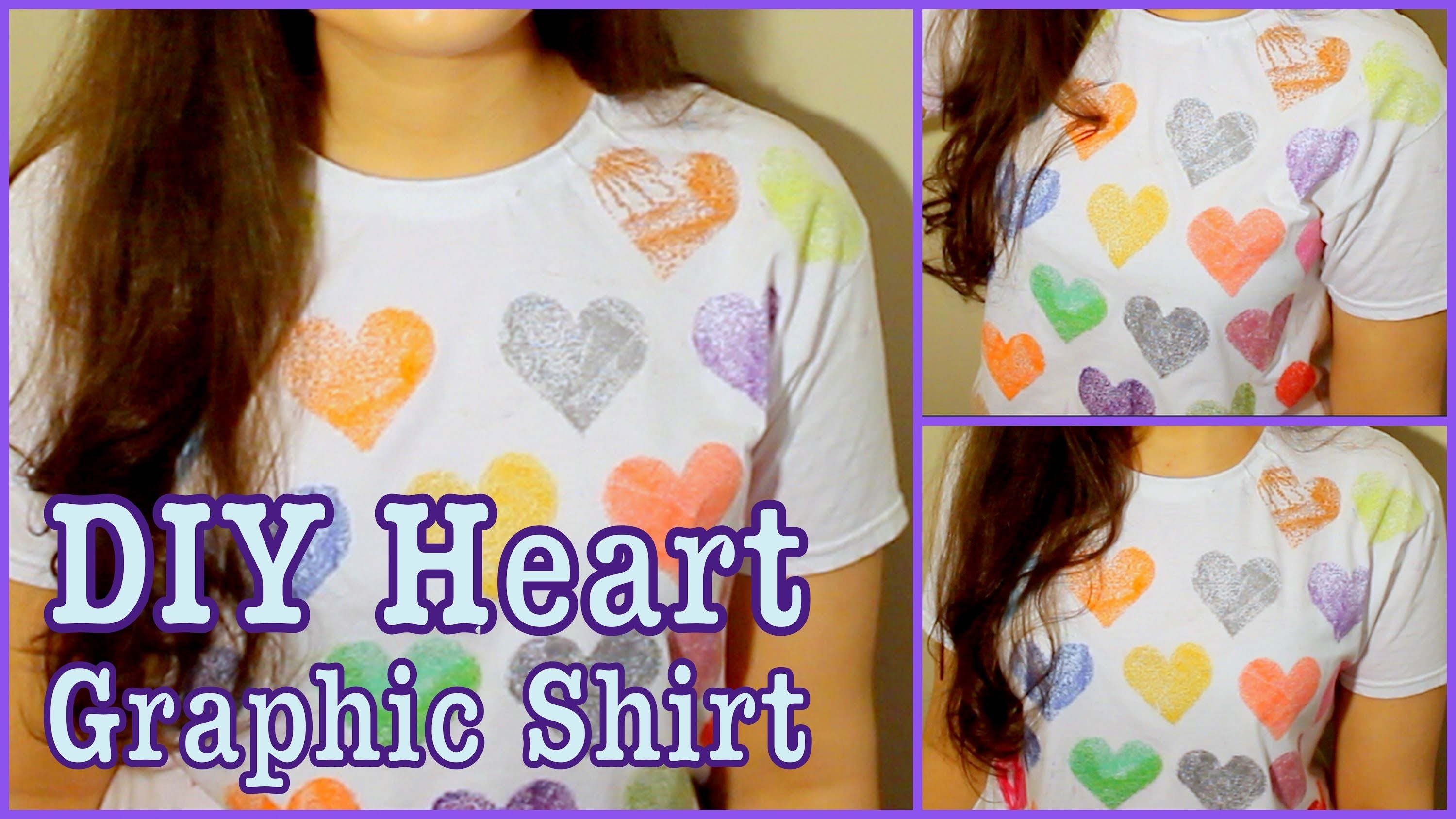 DIY: Graphic Heart T-Shirt!