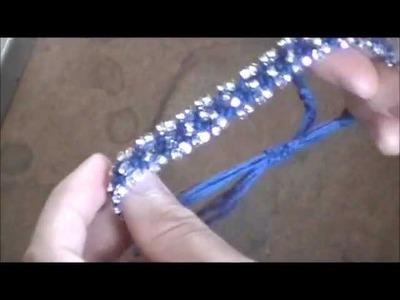 DIY Jewellery- 8-Strand Macrame Bracelet + Beads