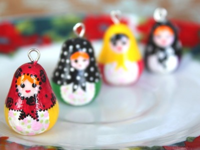 DIY: Matryoshka {Nesting} Doll. Polymer Clay Charm Tutorial