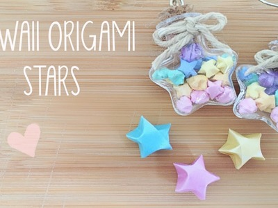 DIY Mini Lucky Origami Star Earrings