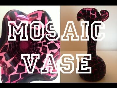DIY: Mosaic Vase ♡ Theeasydiy #RoomDecor
