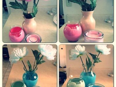 DIY Painted Vases