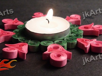 DIY Paper Quilling Candle Holder  JK Arts 331
