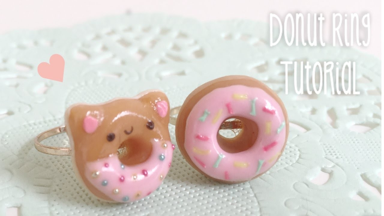 Donut Ring Kawaii Clay Tutorial DIY Sweet Decoden
