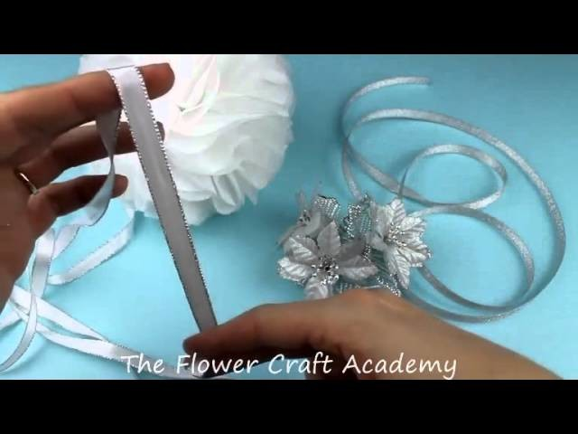 Flower Frill Christmas Pomander Kissing Ball Tutorial