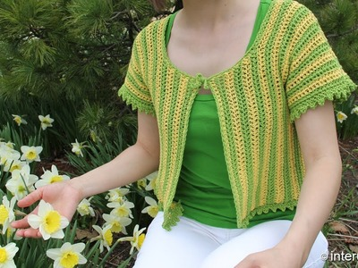 How to crochet women's short sleeve summer top - two colors crochet pattern