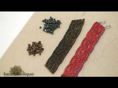 How to Decrease a Brick Stitch and Make a Bracelet