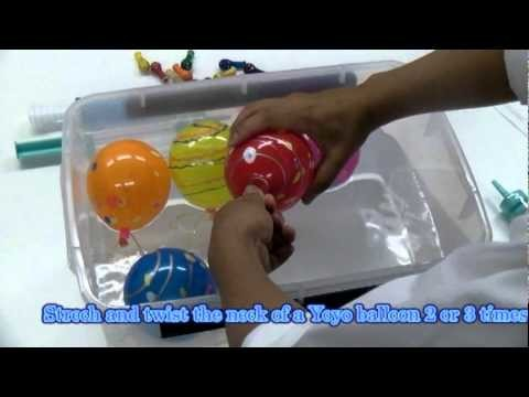 How to Fill and Clip YoYo Balloons (water balloons) It's easy!