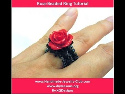 How to Make Rose Beaded Ring