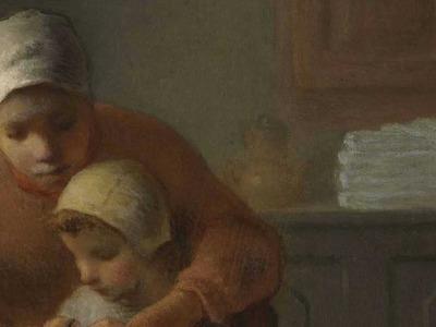 "Jean-François Millet, ""The Knitting Lesson,"" c. 1860"