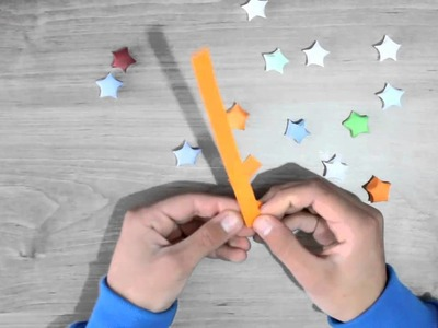 Make small paper stars , origami