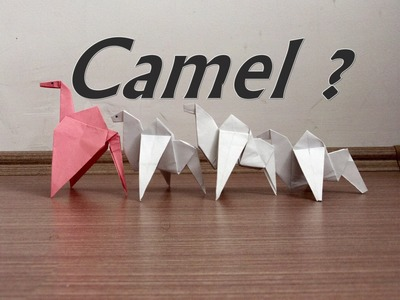 Paper Camel - How to Make an origami Camel