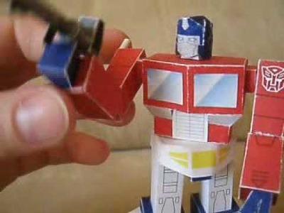 Papercraft G1 mini Optimus Prime w. poseable mods