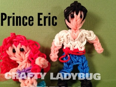 Rainbow Loom Charm PRINCE ERIC-THE LITTLE MERMAID Advanced Charm Tutorial by Crafty Ladybug