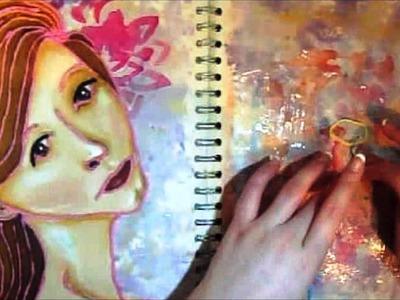 Rope Portrait Tutorial - Art Journal Technique