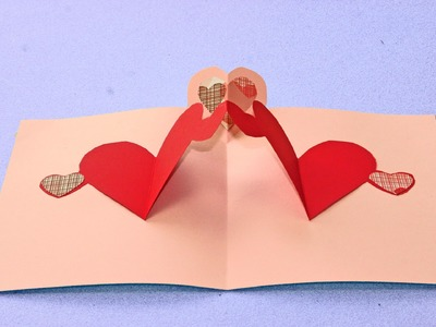 Simple pop up heart card tutorial (Valentines day craft for kids)