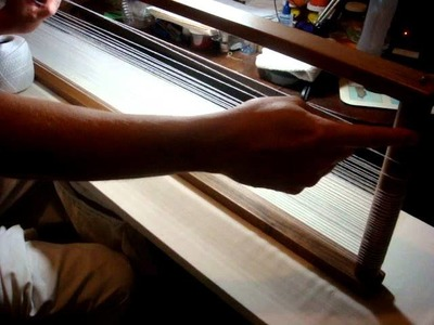 Using An Open. Box Loom - Part Two: Tying Off The Warp Thread