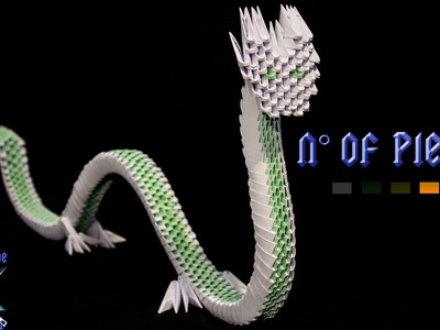 [3D ORIGAMI] Chinese Dragon Tutorial || Decorations.Animals