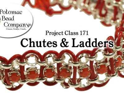 Chutes & Ladders Bracelet (Project Class 171) - Leather & Cupchain