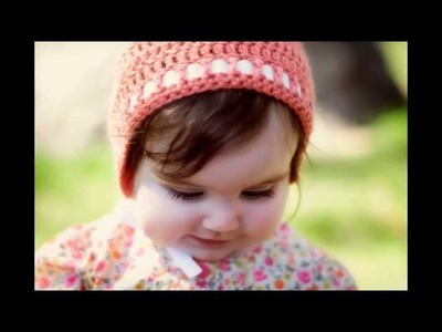 Crochet Baby Bonnet Pattern *Spring Bonnet*