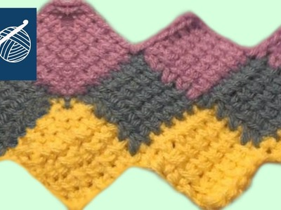 Crochet Entrelac Stitch - Left Hand Crochet Geek