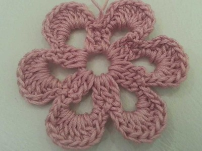 Crochet Flower Tutorial #4