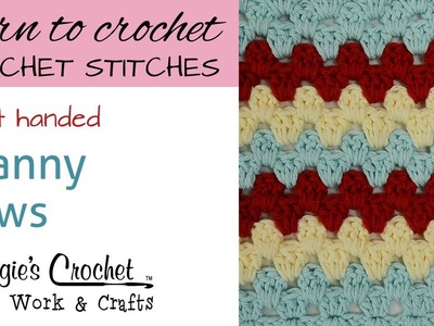 Crochet Stitches - Granny Rows - Free Crochet Pattern Right Handed