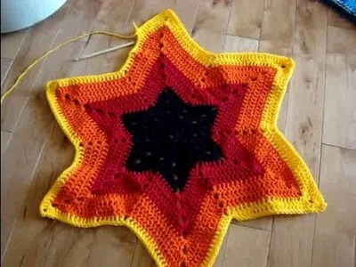 Crochet Super Stars 6 Points Afghans