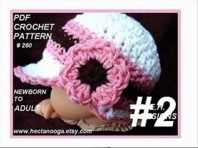 CUTE BABY HATS, 1 TO 11