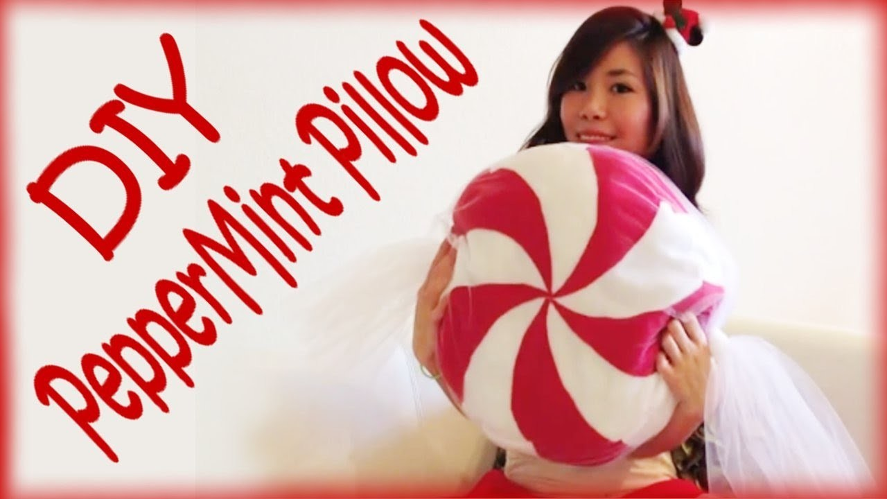 DIY Christmas Peppermint Pillow