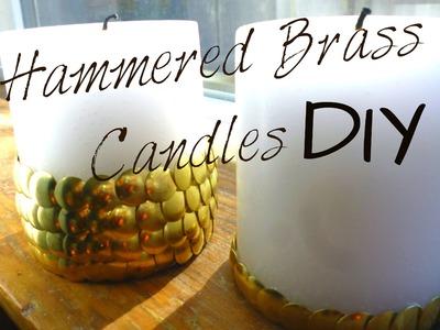 DIY Décor ♥ Hammered Brass Effect Candles